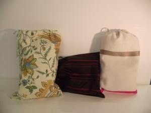 Pochettes en tissus très pratiques