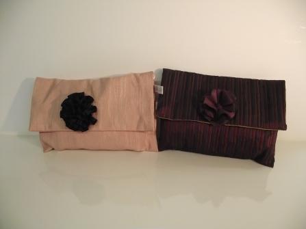 Pochette en tissus très couture