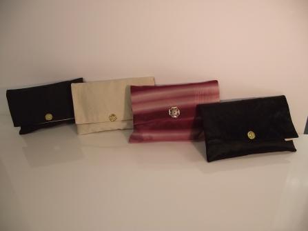 Pochettes en tissus très couture