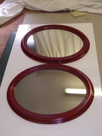 paire de Miroirs ovales